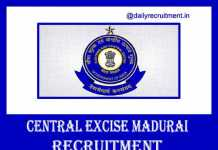 Central Excise Madurai Recruitment 2020