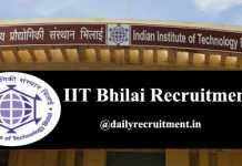 IIT Bhilai Recruitment 2020