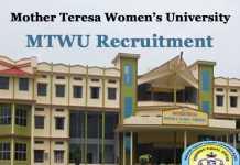 MTWU Recruitment 2020
