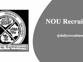 NOU Recruitment 2020