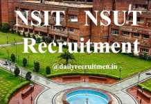 NSIT Recruitment 2020