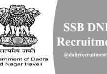 SSB DNH Recruitment 2020