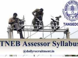 TNEB Assessor Syllabus 2020
