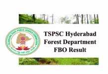 TSPSC FBO Result 2020