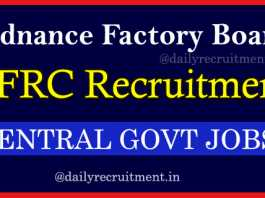 Ordnance Factory OFB Recruitment