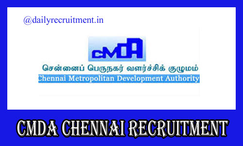 CMDA Chennai Recruitment 2020