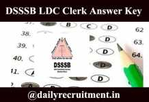 DSSSB LDC Answer Key 2020