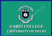 Gargi College Recruitment 2020