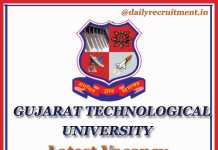 GTU Recruitment 2020