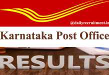 Karnataka Post Office Result 2020