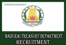 Madurai Treasury Department Recruitment 2020