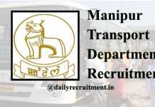 Manipur Transport Department Recruitment 2020