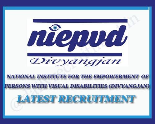 NIEPVD Recruitment 2020