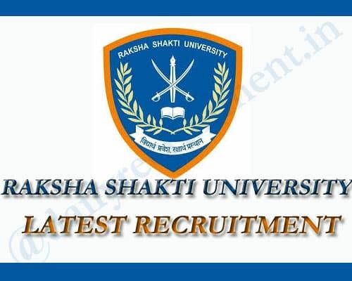 Raksha Shakti Recruitment 2020