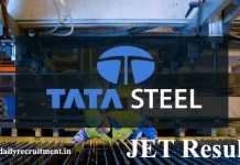 TATA Steel JET Result 2020