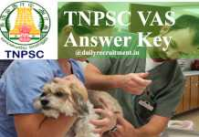 TNPSC VAS Answer Key 2020