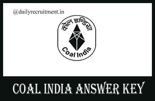 Coal India MT Answer Key 2020