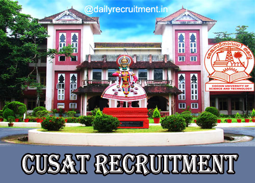 CUSAT Recruitment 2021