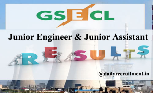 GSECL JE Result 2020