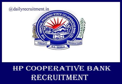 HP Cooperative Bank Recruitment 2020
