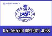 Kalahandi District Jobs 2020