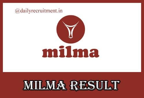 MILMA Result 2020