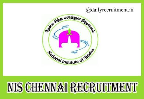 NIS Chennai Recruitment 2020