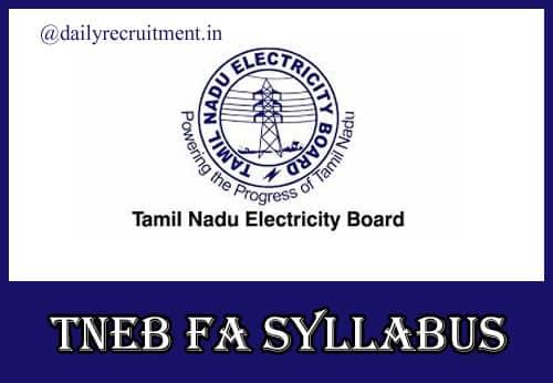 TNEB Field Assistant Syllabus 2020