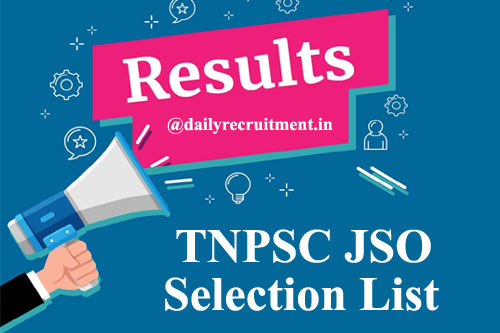 TNPSC JSO Result 2020