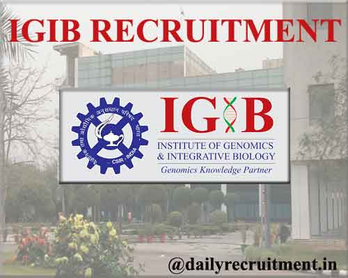 IGIB Recruitment 2020