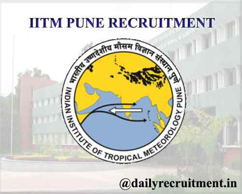IITM Pune Recruitment 2020