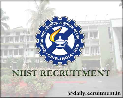 NIIST Recruitment 2020