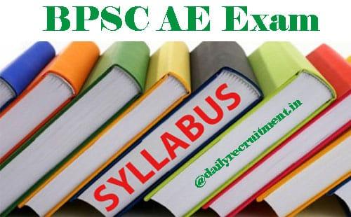 BPSC AE Syllabus 2020