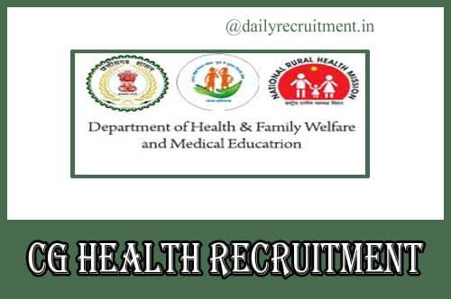 CG Health Recruitment 2020