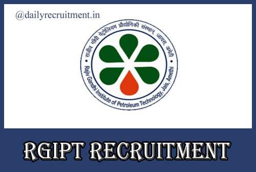 RGIPT Recruitment 2020