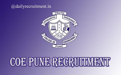 COE Pune Recruitment 2020