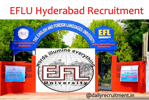 EFLU Recruitment 2020