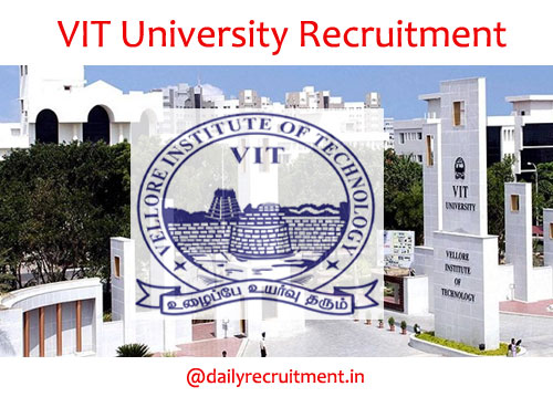 VIT University Recruitment 2020