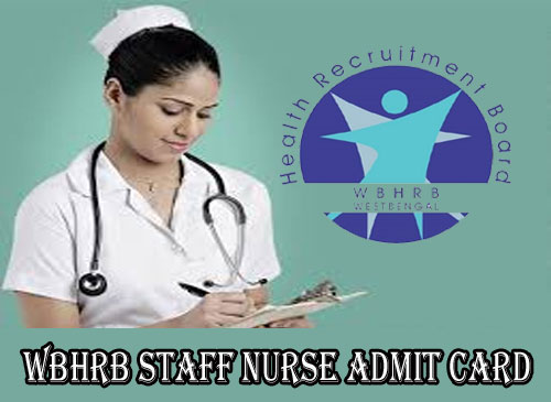 WBHRB Staff Nurse Admit Card 2020