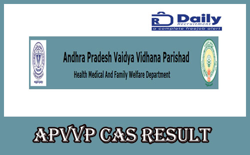 APVVP CAS Result 2020