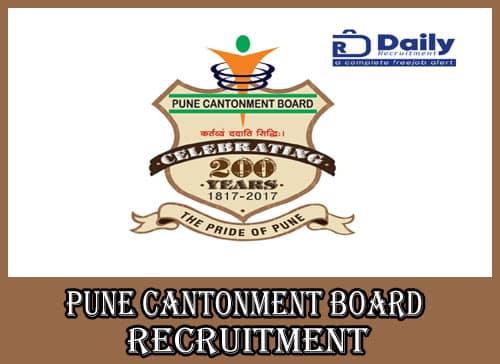 Pune Cantonment Board Recruitment 2020