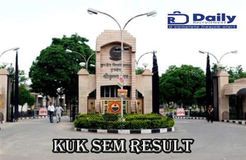 KUK Distance Education Result 2021