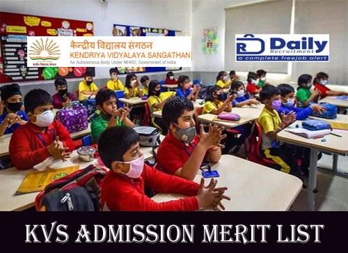 KVS Admission Merit List 2020