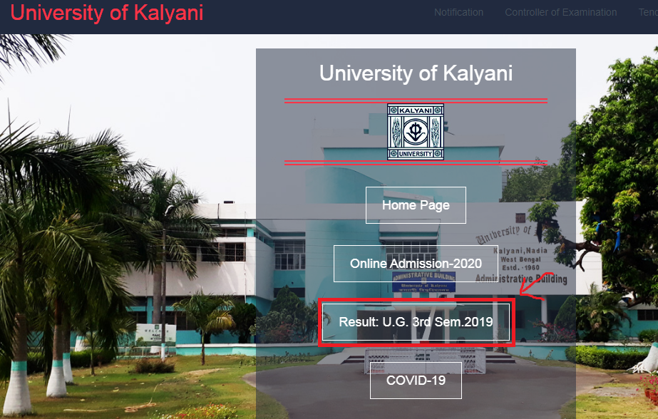 Kalyani University 3rd Semester Result 2020