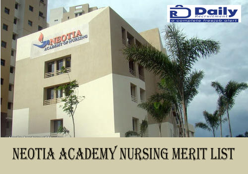 Neotia Academy of Nursing Merit List 2020