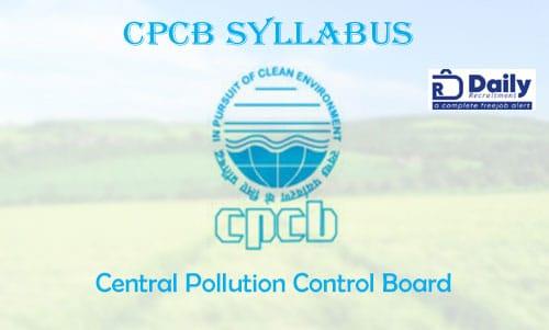 CPCB Syllabus 2020