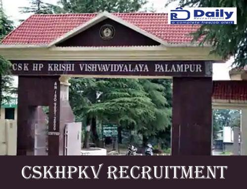 CSKHPKV Recruitment 2020