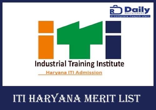 ITI Haryana Merit List 2020