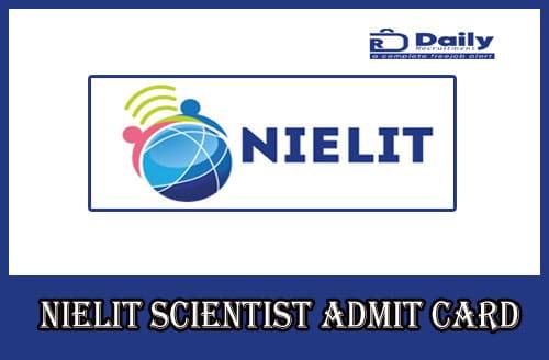 NIC Scientist B Admit Card 2020