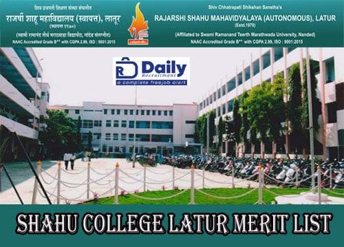 Shahu College Latur Merit List 2020